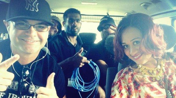 Selfie: Miss Kihi travelling to Waitangi 2015